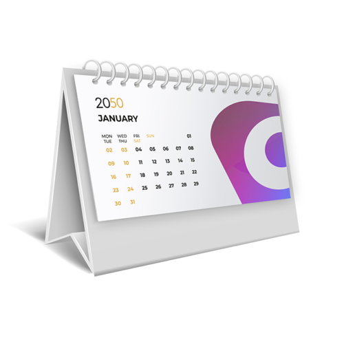 Изготовление настольных перекидных календарей