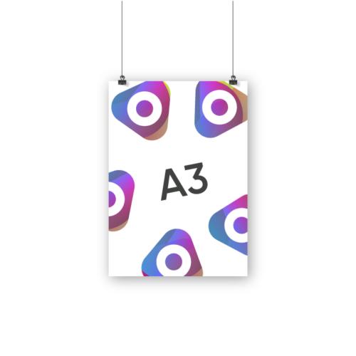 Печать афиш А3
