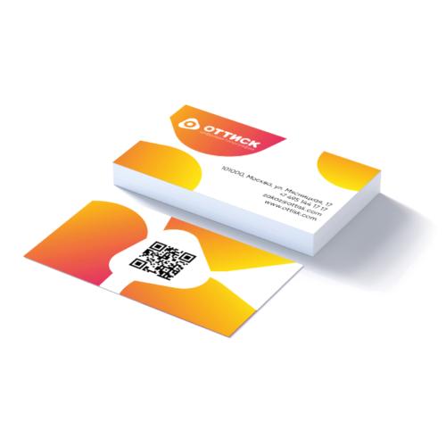 Печать визиток на ультрабелой бумаге