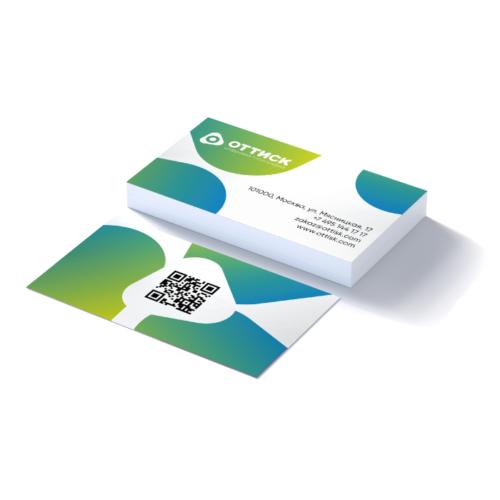 Печать визиток на бумаге Touch Cover