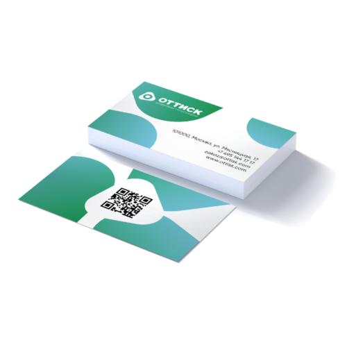 Печать визиток с матовой ламинацией
