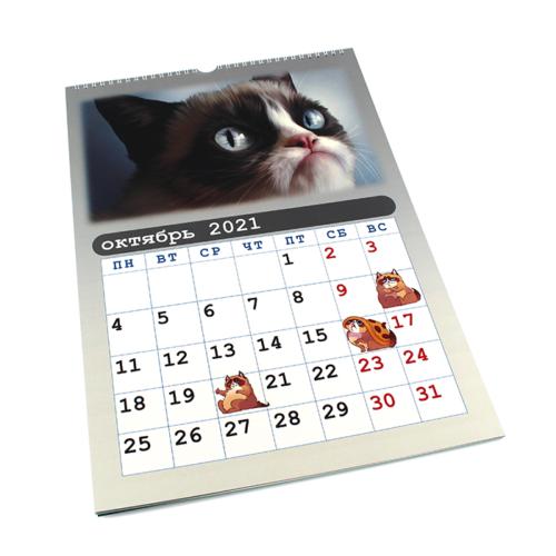 Настенный календарь - мемный кот